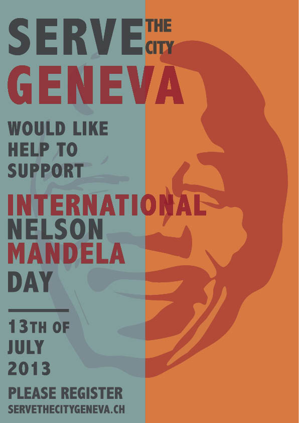 Nelson Mandela Day Poster, by Flore Martinson