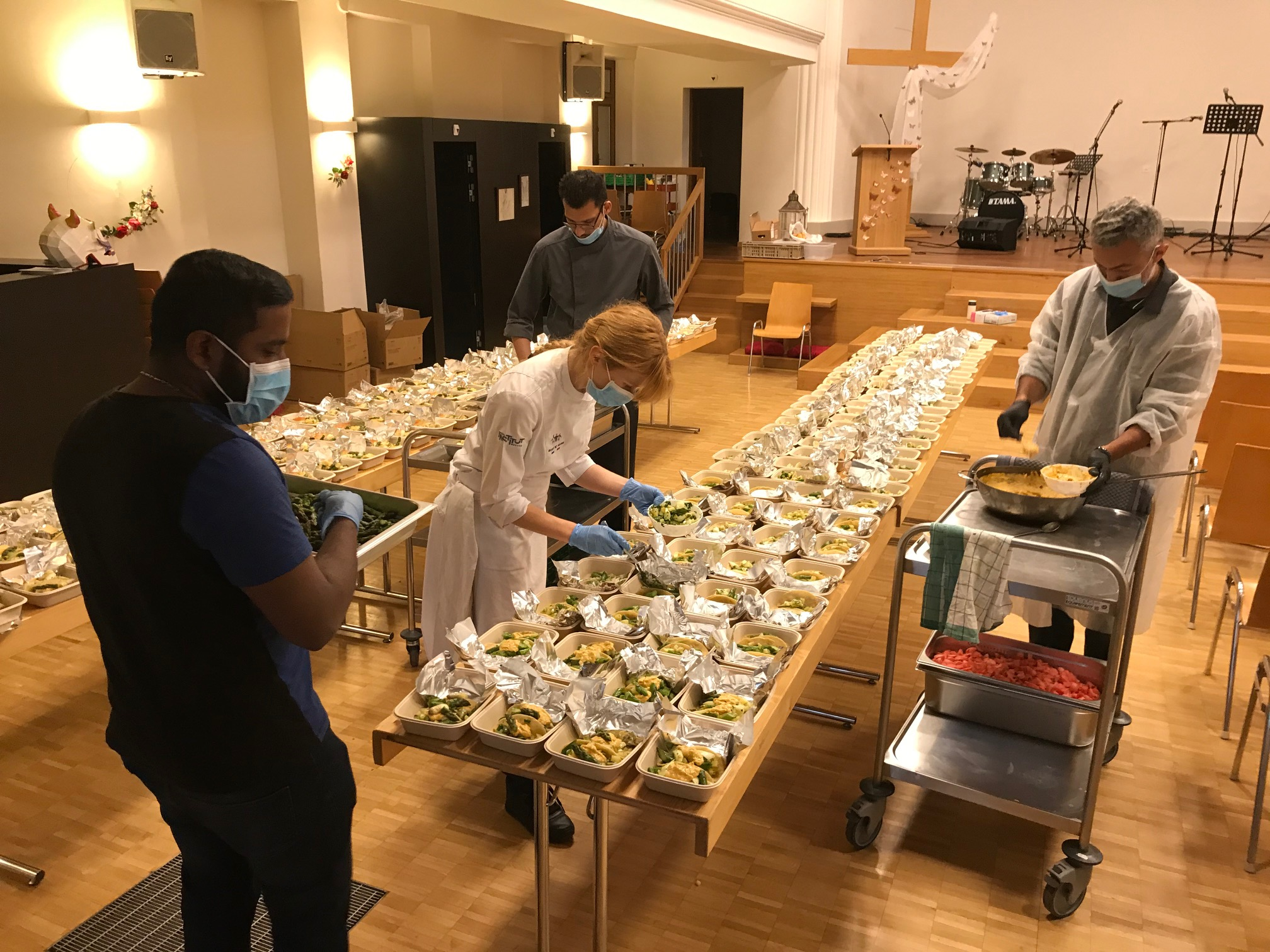making 200 meals